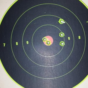Sighting it in at 100 yards using cheap 168gr winchester M1A ammo